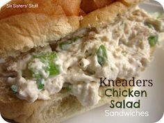 Kneaders Chicken Salad Sandwiches- seriously one of the best I have ever tried! SixSistersStuff.com #recipe #sandwich
