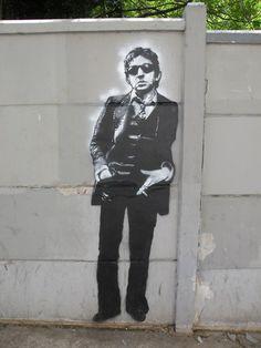 Serge Gainsbourg en noir et blanc par Jef Aérosol