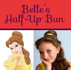 Belle's Half-Up Bun   26 DIY Hairstyles Fit For A Princess