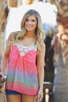 I Like It Like That Tank - Coral from Closet Candy Boutique
