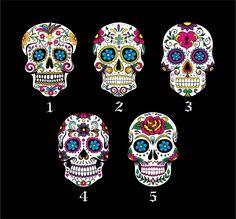 Custom Sugar Skulls - Pendulum Wall Clock - Day of the Dead - Dia De Los Muertos - Decoration. $49.99, via Etsy.