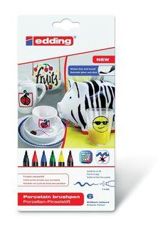 edding Porzellan-Pinselstift edding 4200, 1 - 4 mm, sortiert: Amazon.de: Gewerbe, Industrie & Wissenschaft