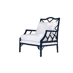 Kennedy Lounge Chair - Navy Lacquer | Club | Seating | Selamat Designs | Interior Design Ideas