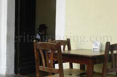 man in a cafe, granada, nicaragua