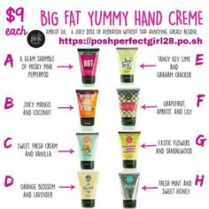 Big Fat Yummy Hand Crème! A juicy dose of hydration without that annoying, greasy residue