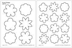 Flower Shapes Set