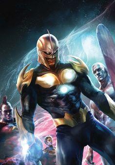 Nova and the Guardians by Aleksi Briclot