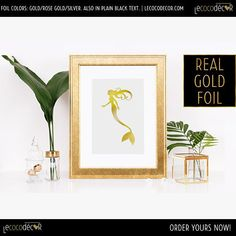 Gold Mermaid Print - Gold Foil Mermaid - Girls Room Mermaids - Mermaid - Gold Foil Print - Mermaid Party Theme - Mermaid Wall Art - Nursery by LeCocoDecor Mermaid Wall Art, Wall Art, Girls Room Mermaid, Nursery Art, Gold Foil Print, Nursery Wall Art, Pink Paint, Wall Art Prints, Nursery Themes
