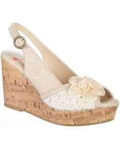 Jellypop Womens Lillian Wedge Sandals