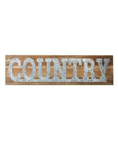 Take a look at this Galvanized 'Country' Wall Décor today!