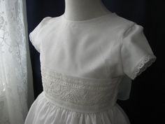 First  communion dress with swiss by MaryPeterDesigns on Etsy