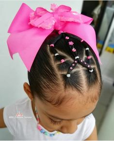 Cute Toddler Hairstyles, Girly Hairstyles, Cute Little Girl Hairstyles, Natural Hairstyles For Kids, Elegant Hairstyles, Ponytail Hairstyles, Natural Hair Styles, Cheer Ponytail, Cheer Hair