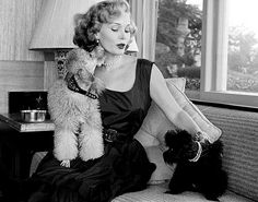 Zsa Zsa Gabor & her two poodles, Harvey Hilton and Farouk, 1951