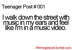 yassss girllll i used to have a playlist of songs that made me feel like i was in music videos lolol XD