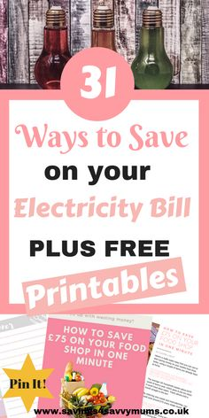 Trying to save money on your electricity bill when you have a family isn't easy. So here are 31 tips to help you save money on your electricity bill by Laura at Savings 4 Savvy Mums Ways To Save Money, Money Tips, Money Saving Tips, Saving Ideas, Teaching Money, Managing Money, Improve Credit Score, Electricity Bill, Financial Tips