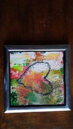 Acrylmaleri  Hjerte