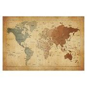 Michael Tompsett 'Time Zones Map of the World' Canvas Art