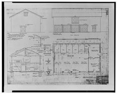 13.  PLAN, ELEVATIONS, AND SECTIONS OF STABLE, SANTA ANA NO. 1, MAY 29, 1912. SCE drawing no. 4674. - Santa Ana River Hydroelectric System, SAR-1 Stable, Redlands, San Bernardino County, CA