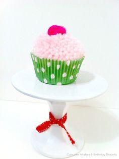 Cupcake Wishes & Birthday Dreams: {Cupcake Monday} Yarn Pom-Pom Cupcake Garland