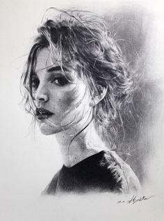 박지훈 연필드로잉 / 스튜디오 슬릭 / 부산 소묘 portrait in 2019 рисование портретов, карандашн Realistic Pencil Drawings, Pencil Art Drawings, Amazing Drawings, Drawing Faces, Life Drawing, Painting & Drawing, Sketch Drawing, Portrait Au Crayon, L'art Du Portrait