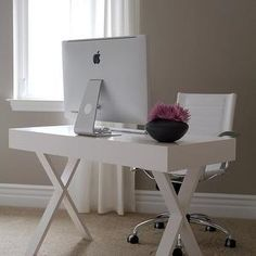 From World Market · Great Desk For Kids Study/bedroom. White Lacquer Desk,  Contemporary, Den/