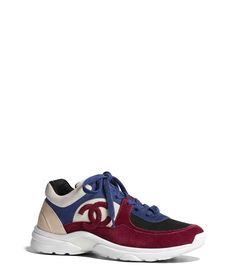 best website a1235 9f8f0 Trainers, suede calfskin., navy blue  red. - CHANEL
