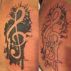 Violin key tattoo