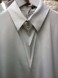 Origami Shirt with graphic folds; fabric manipulation; innovative textiles; geometric fashion detail // Georgia Hardinge