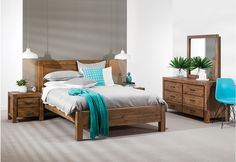 Silverwood 5 Piece Dresser Queen Bedroom Suite | Super A-Mart