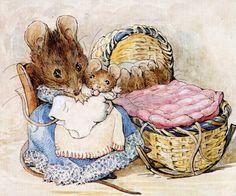 HUNCA MUNCA AND THE CRADLE. Beatrix Potter