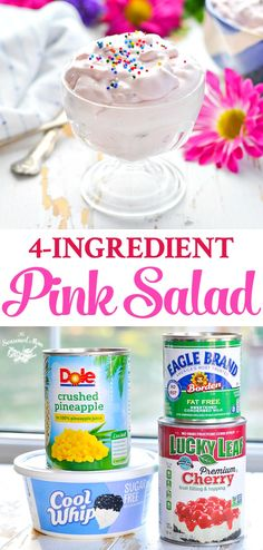 5-Minute, 4-Ingredient Pink Salad - The Seasoned Mom