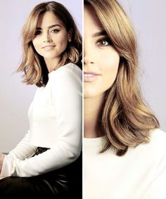 im so gay and jenna is literally a goddess like is she even real Jenna Coleman Hair, Jenna Coleman Style, Doctor Who, Eleventh Doctor, Medium Hair Styles, Long Hair Styles, Mid Length Hair, Dream Hair, Hairstyles Haircuts