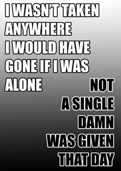 Giving Day, I Am Alone, Has Gone, Im Alone, Im Lonely