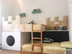 #kurabed #ikea #ikeahack #ikeahacks #castle #kids #kidsroom #diy #bunkbeds