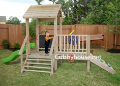 Turtle Tower Cubby House Australian-Made Backyard Playground Equipment DIY Kits