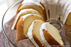 Meyer Lemon Whipping Cream Pound Cake  #CookingOnTheSide