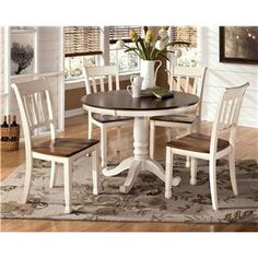 Whitesburg 5-Piece Two-Tone Cottage Round Table Set by Signature Design by Ashley at Rotmans