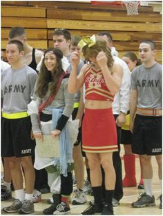 Where did CDT Laporta get this cheerleading uniform?