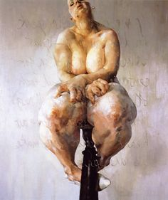Jenny Saville Propped 1992 Oil on canvas 213.5 x 183 cm http://www.saatchigallery.com/artists/artpages/jenny_saville_10.htm 4 April 2015