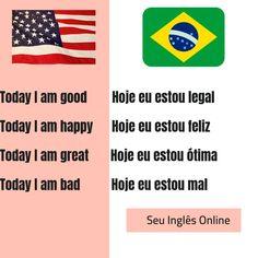Venha aprender Inglês com o Seu Inglês Online. Clique no link e assista ao terceiro vídeo do canal onde ensino sobre Saudações. 🇺🇸 English Help, English Course, English Tips, Learn English Words, English Study, English Lessons, English Vocabulary Words, English Grammar, Teaching English