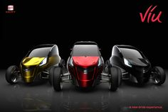 Viu : 3 Wheel Electric Concept Car for 2 Persons
