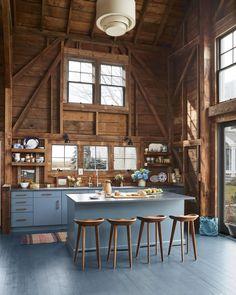 Barn Kitchen, Farmhouse Style Kitchen, Rustic Kitchen, New Kitchen, Kitchen Walls, Kitchen Interior, Kitchen Colour Schemes, Kitchen Paint Colors, Color Schemes