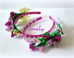 Mini top hat with flowers kanzashi by LenaLy on Etsy