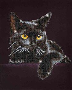 Mary Maxim - Midnight Cat Diamond Dotz - Crafts