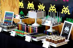 Kara's Party Ideas Space Invaders First Birthday Party {Decor, Ideas, Planning, Styling}