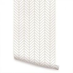 Orange Herringbone Line Wallpaper