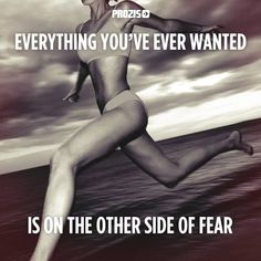 Everything you've ever wanted is on the other side of fear. Visit www.prozis.com for more information on bodybuilding and sports nutrition. Challenges are what makes life interesting and overcoming them is what makes life meaningful #effort #inspiration #body #sport #bodybuilding #believe #trust #motivation #muscles #healthy-life #transformation #everything #possible #quotes