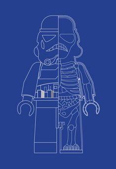 Stormtrooper Star Wars Inspired LEGO MAN XRay Art by BARDARON, $29.00
