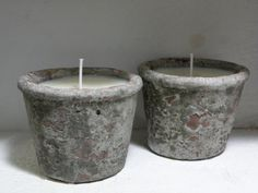 ON SALE   Cement Pot Soy Candle Five Ounce  by aunaturelle on Etsy