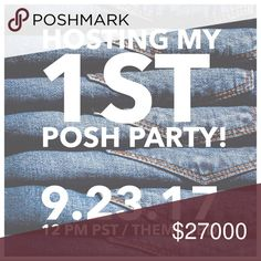 UPDATE 1: Hosting My 1st Posh Party! WOW! OVERWHELMED! THANK YOU ALL for the ❤️+ shares! I wish I could reply to each and every one of you, please know I'm taking notes, checking out closets...😘I can't think of a better way to show my thanks, appreciation, gratitude to all of those who have supported me, given me HP's, and taught me so much. Time to give back & pay it forward to some newbies. Please like this listing to learn the theme. Looking for NEW Posh Compliant Closets/never had a HP…